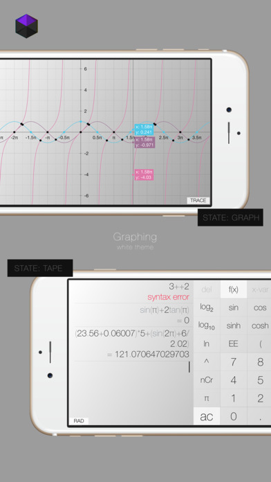 Calculator³: 3-in-1 Scientific, Graphing and Programmer Calculator Screenshots
