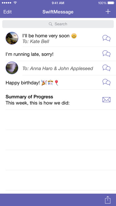 SwiftSMS iPhone Screenshot 1
