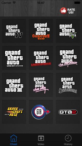 GTA Cheats - for Grand Theft Auto Games GTA 5 GTA V