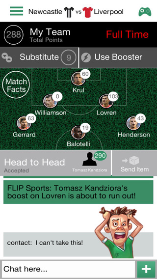 FLIP Sports: Real-Time Fantasy Football