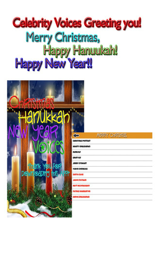 Christmas Hanukkah New Year Holiday Season Greeting Voices Pro - Love Celebrate Customize the Festiv