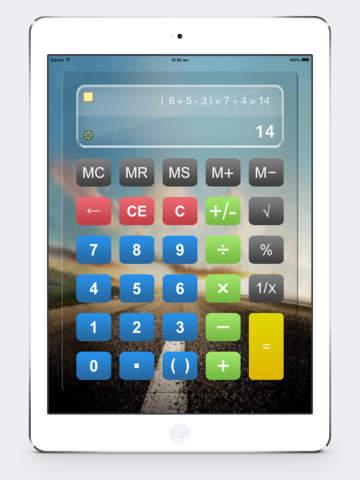 Калькулятор HD % бесплатно - Основные Calculater App Pro с Formula Показать & Notable бумажные ленты для Ipad , Iphone и Ipod Скриншоты8