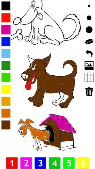 Dog Coloring Book for Children: Learn to draw and color dogs and puppies