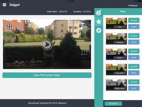 Snippet HD - Video Editor With Filters And Splice Features