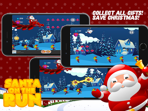 Santa on the Run Free: The Impossible Christmas Mission Game iPad Screenshot 3