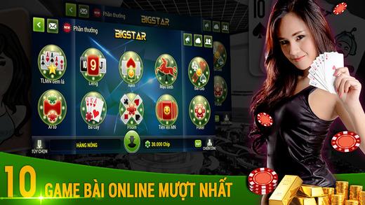 BigStar - Phỏm Xâm Liêng Poker Tiến Lên Mậu Binh