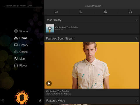 Screenshot 1 SoundHound + LiveLyrics | Search,  Discover and Play Music