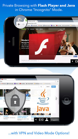 privateBrowser with Flash Player - iPhone edition Screenshots