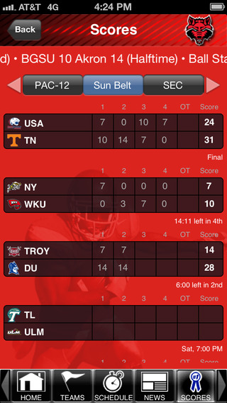 Arkansas State Red Wolves College SuperFans iPhone Screenshot 3