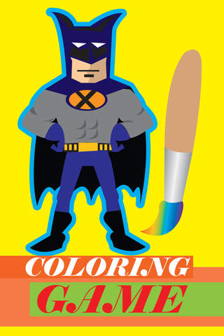 Coloring Game for Batman screenshot 1