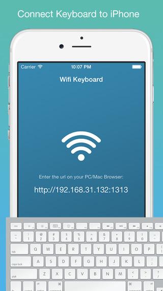 Wifi Keyboard - Connect your keyboard to iPhone iPad with Wifi
