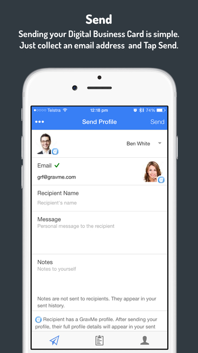 GravMe Pro Electronic Business Card App on the App Store