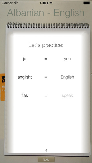 BidBox Vocabulary Trainer: English - Albanian iPhone Screenshot 1