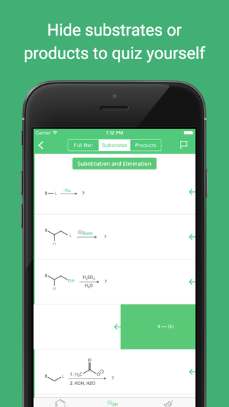 Organic Chemistry Reference Screenshots