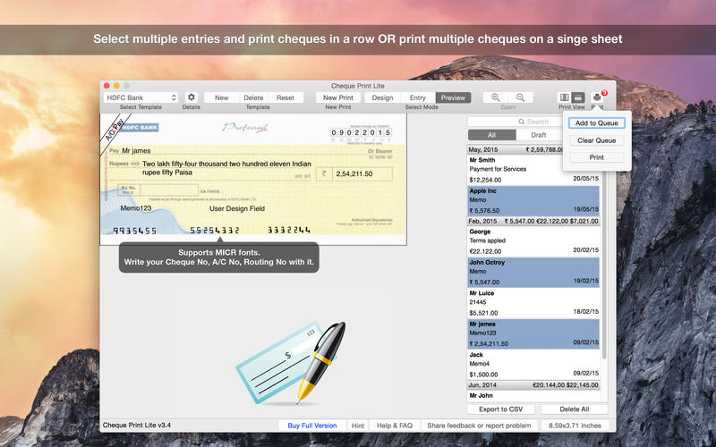 Cheque Print Lite Screenshot - 4