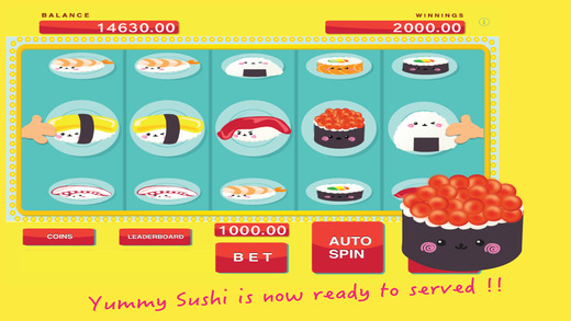 An Asian Yummy Sushi Machine - Slot PRO