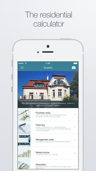 Quanto - The residential property calculator for iPhone