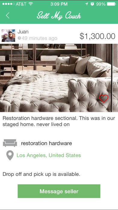iPhone Screenshot 3. Sell My Couch   the simplest way to buy and sell your couch and