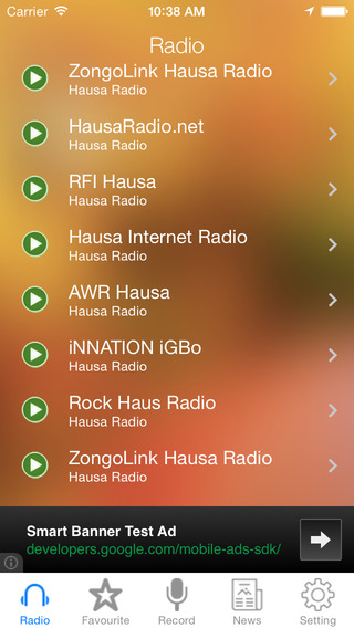 Hausa Radio News Music Recorder