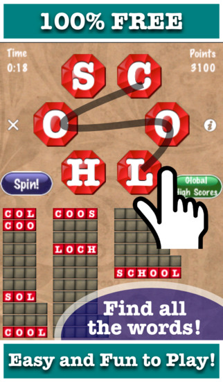 Word Jewels® Spin - Find All The Words