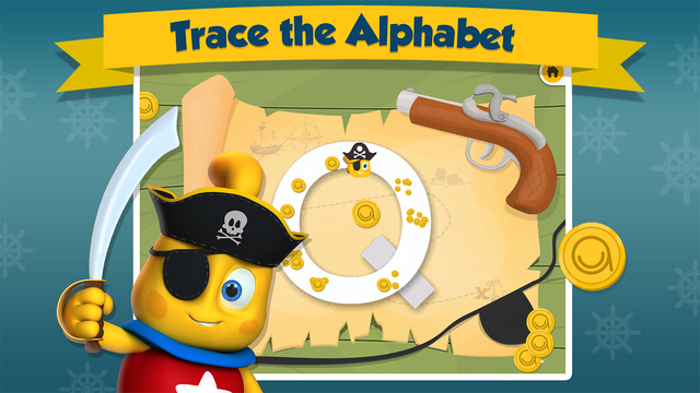 Icky the Pirate - Treasure Trace - Learn to write Uppercase ABC - Lesson 2 of 3