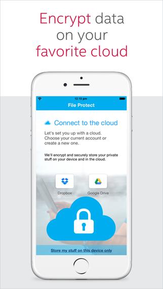 File protect secure vault safe cloud backup by for Cloud vault app