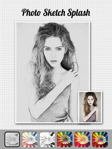 Screenshots of Photo Sketch Splash - My Pencil Drawing with Portrait Filter Effects for iPad