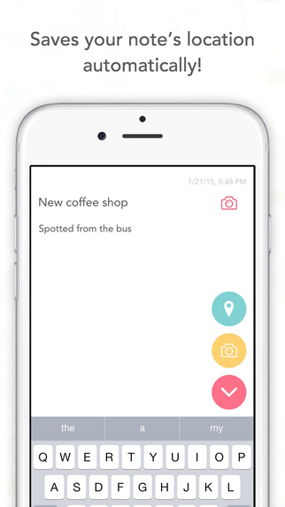 NoteSpot - Write a note save its location