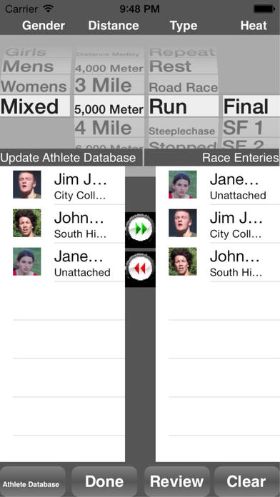 Running Coach's Clipboard for iPhone iPhone Screenshot 4