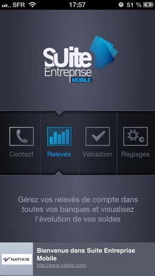 Suite Entreprise Mobile Natixis