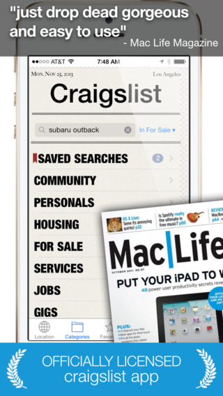 Daily an app for craigslist for iPhone - Shopping Cars Dating Jobs + Other Mobile Classifieds