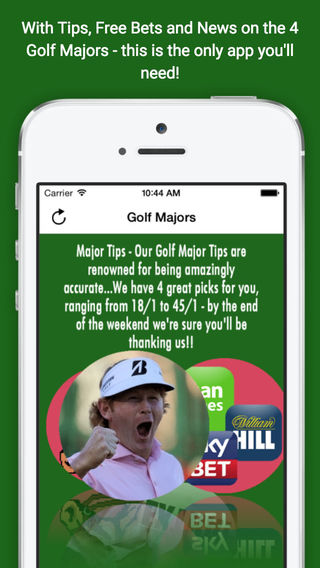 Golf Major Betting Tips and Free Bets - For the Open USPGA Masters and the US Open