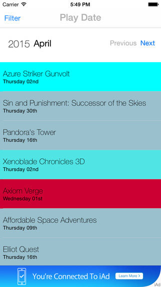 Play Date: Video Game Release Calendar