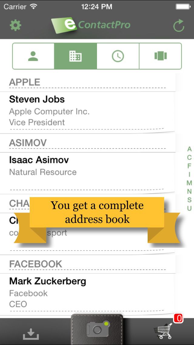 App Shopper EcontactPro Business card scanner Business