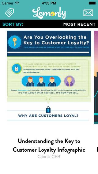 Screenshots for Lemonly Infographics