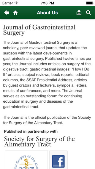 Journal of Gastrointestinal Surgery – Official Journal of the SSAT