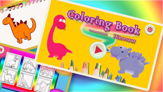 Finger Painting Coloring Book For Children - Doodle To Draw Dinosaur
