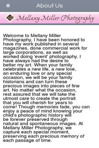 Mellany Miller Photography - Palm Springs screenshot 2