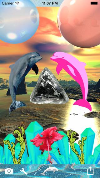 Screenshots for Tropix - Seapunk Stickers