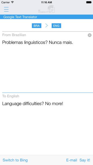 Brazilian English Dictionary & Translator iPhone Screenshot 3