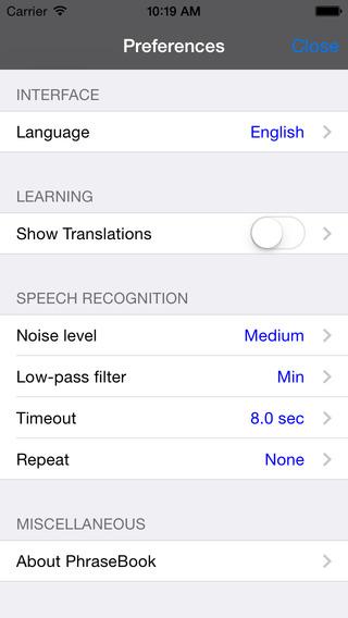 Spanish-Portuguese Talking Travel Phrasebook iPhone Screenshot 4