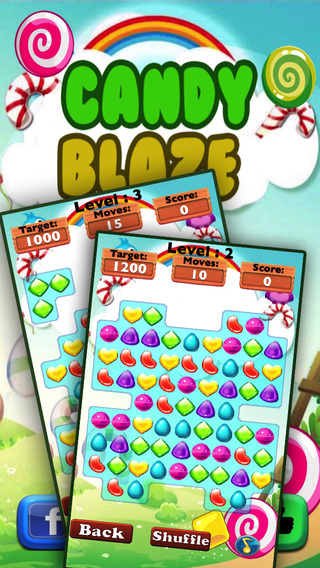 Candy Blaze Mania -Candies Match 3 Game for kids a