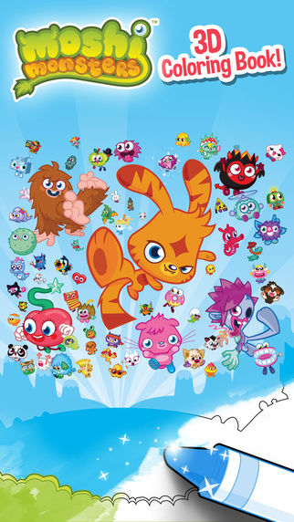 Moshi Monsters 3D Coloring Book
