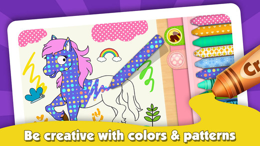 Kids ColorBook: Animals - Educational Coloring Painting Game Design for Children Baby Toddler