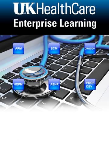 UKHC Enterprise Learning tablet