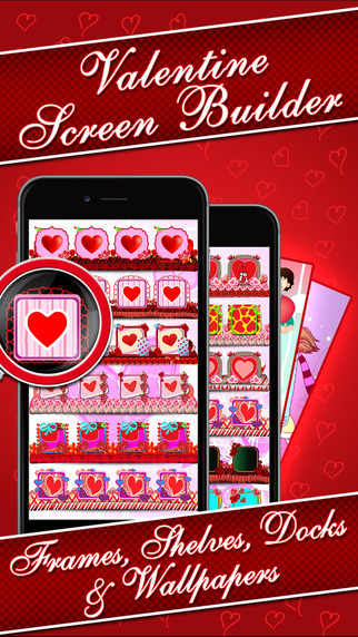 Valentine Screen Builder - Romantic Wallpapers Maker with custom Shelves Frames Docks Backgrounds