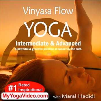 Vinyasa Flow Yoga-Intermediate and Advanced AppVideo-Maral Hadidi LOGO-APP點子