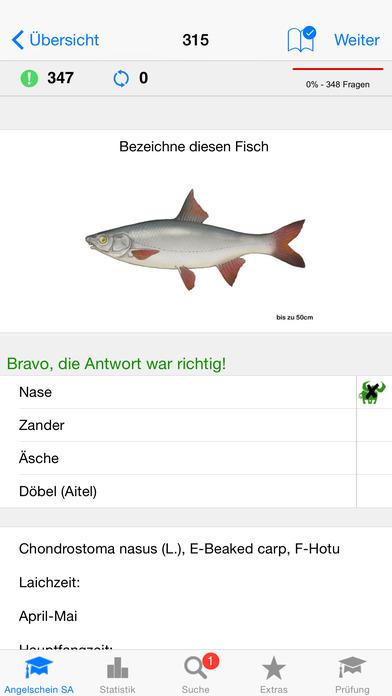 Angelschein Sachsen-Anhalt iPhone Screenshot 2