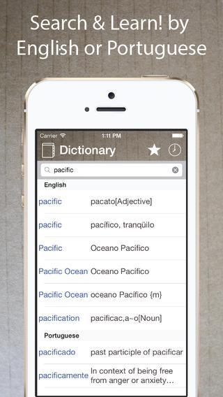 Portuguese English Dictionary Free・Dicionário Inglês Português Gratuito -Learn・Translate・Travel -off