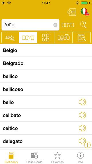 German <-> Italian Talking Dictionary Global Mondadori Langenscheidt iPhone Screenshot 2